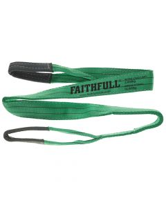 Faithfull Lifting Sling Green 2 Tonne 60mm x 2m - FAITDLS2T2M