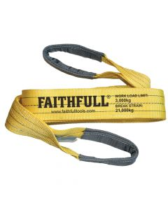 Faithfull Lifting Sling Yellow 3 Tonne 90mm x 2m - FAITDLS3T2M