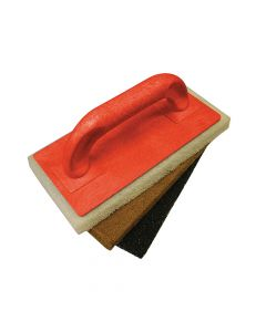 Faithfull Scouring Pad Holder + Fine Medium & Coarse Pads - FAITLSCOUR3