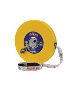 Faithfull Closed ABS Fibreglass Long Tape 30m/100ft (Width 13mm) - FAITM30