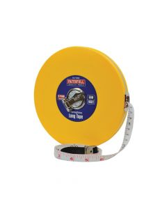 Faithfull Closed ABS Fibreglass Long Tape 50m/165ft (Width 13mm) - FAITM50