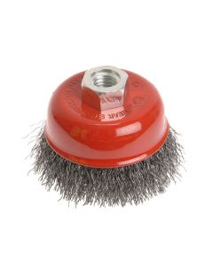 Faithfull Wire Cup Brush 75mm x M14 x 2 0.30mm - FAIWBC75