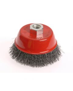 Faithfull Wire Cup Brush 75mm x M14 x 2 Stainless Steel 0.30mm - FAIWBC75S