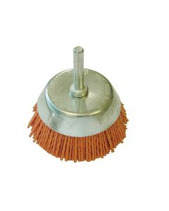 Faithfull Nylon Wheel Cup Brush 65mm x 6mm Shank - FAIWBN65