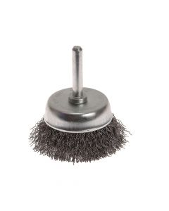 Faithfull Wire Cup Brush 50mm x 6mm Shank 0.30mm - FAIWBS50