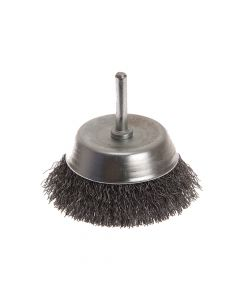 Faithfull Wire Cup Brush 75mm x 6mm Shank 0.30mm - FAIWBS75