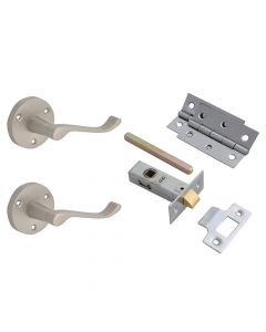 Forge Door Pack - Scroll Lever On Rose Satin Chrome Finish - FGEDPCKLORSC