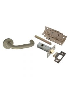 Forge Return To Door Handle Pack Stainless Steel - FGEDPCKSSRTD