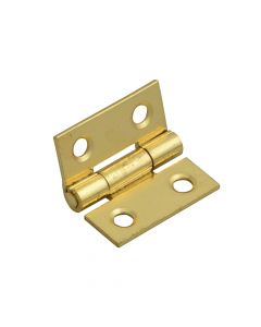 Forge Butt Hinge Brass Finish 25mm (1in) Pack of 2 - FGEHNGBTBP25