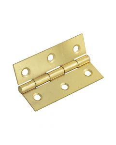 Forge Butt Hinge Brass Finish 75mm (3in) Pack of 2 - FGEHNGBTBP75