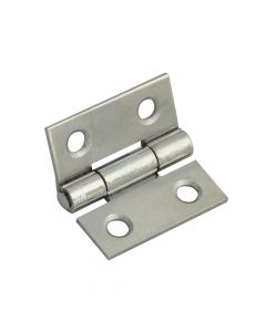 Forge Butt Hinge Polished Chrome Finish 25mm (1in) Pack of 2 - FGEHNGBTPC25
