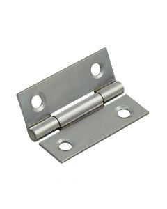 Forge Butt Hinge Polished Chrome Finish 50mm (2in) Pack of 2 - FGEHNGBTPC50