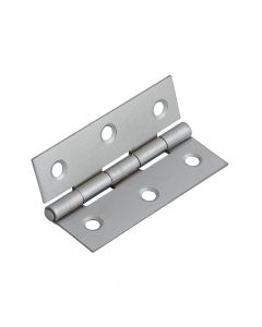 Forge Butt Hinge Satin Chrome Finish 75mm (3in) Pack of 2 - FGEHNGBTSC75