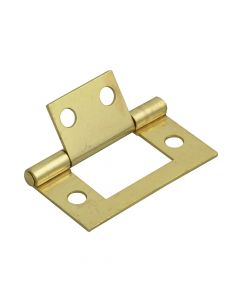 Forge Flush Hinge Brass Finish 40mm (1.5in) Pack of 2 - FGEHNGFLBP40