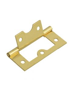 Forge Flush Hinge Brass Finish 60mm (2.5in)Pack of 2 - FGEHNGFLBP60