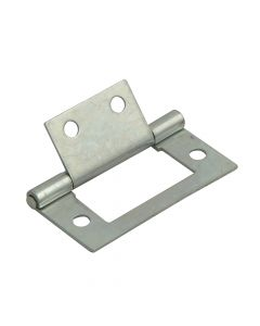 Forge Flush Hinge Zinc Plated 40mm (1.5in) Pack of 2 - FGEHNGFLZP40