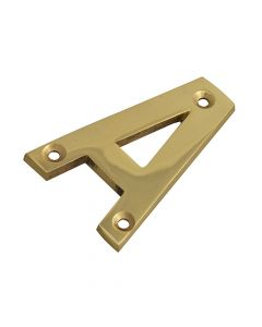 Forge Letter A - Brass Finish 75mm (3in) - FGENUMABR75