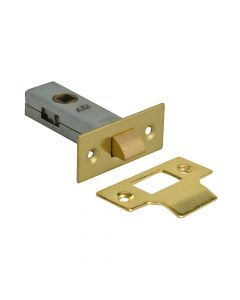 Forge Tubular Mortice Latch Brass Finish 76mm (3in) - FGETUBLBR3