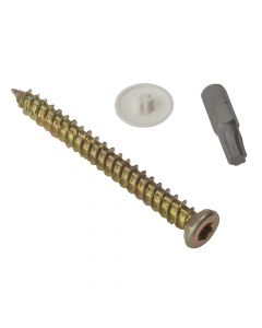 ForgeFix Concrete Frame Screw Torx Compatible High-Low Thread ZYP 7.5 x 102mm Box 100 - FORCFS102