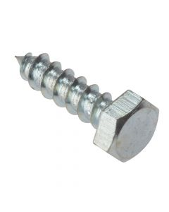 ForgeFix Coach Screw Hexagon Head Single Thread ZP M6 x 100mm Bag 10 - FORCS6100G
