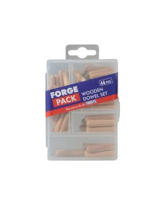 ForgeFix Wooden Dowel Kit Forge Pack 46 Piece - FORFPDOWSET