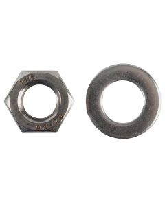 ForgeFix Hexagonal Nuts & Washers A2 Stainless Steel M12 Forge Pack 6 - FORFPNUT12SS