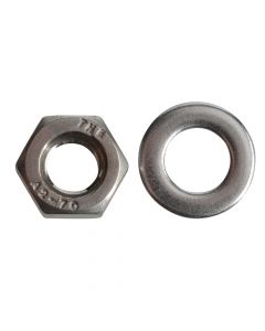 ForgeFix Hexagonal Nuts & Washers A2 Stainless Steel M6 Forge Pack 20 - FORFPNUT6SS