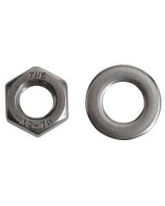 ForgeFix Hexagonal Nuts & Washers A2 Stainless Steel M8 Forge Pack 12 - FORFPNUT8SS