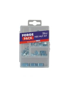 ForgeFix Hexagon Nut Kit Forge Pack 70 Piece - FORFPNUTSET
