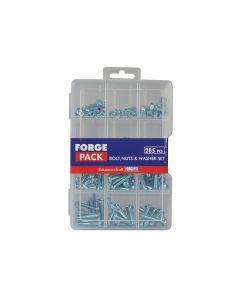 ForgeFix Hexagon Bolt, Nut & Washer Kit Forge Pack 285 Piece - FORFPNWSET