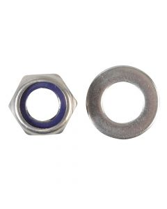 ForgeFix Nyloc Nuts & Washers A2 Stainless Steel M12 Forge Pack 6 - FORFPNYL12SS