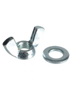 ForgeFix Wing Nut & Washers ZP M10 Forge Pack 6 - FORFPWING10