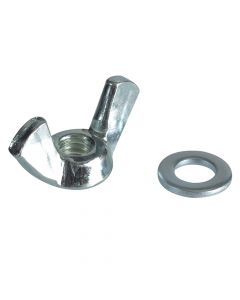 ForgeFix Wing Nut & Washers ZP M6 Forge Pack 10 - FORFPWING6