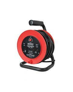 Faithfull Open Drum Cable Reel 240 Volt 15 Metre 13 Amp 2 Socket - FPPCR15