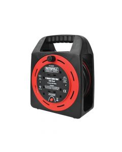 Faithfull Easy Reel Cable Reel 20 Metre 10 Amp with 4 Socket 240 Volt - FPPCR20MER
