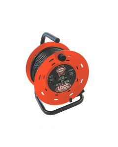 Faithfull Open Drum Cable Reel 240 Volt 50 Metre 13 Amp 2 Socket - FPPCR50M