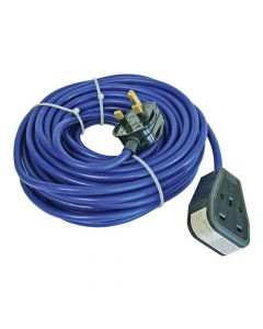 Faithfull Trailing Lead 240 Volt 13 Amp 1.5mm Cable 14 Metre - FPPTL14M