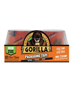 Gorilla Glue - Packaging Tape 72mm x 27m Refill Pack of 2 - GRGPKTAPE27
