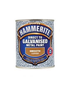 Hammerite Direct to Galvanised Metal Paint Copper 750ml - HMMDGCO750