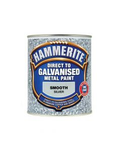 Hammerite Direct To Galvanised Metal Paint Silver 750ml - HMMDGSI750