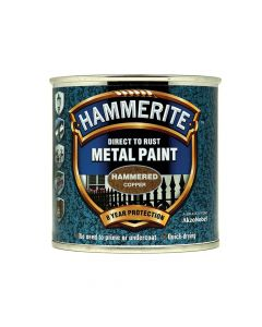 Hammerite Direct to Rust Hammered Finish Metal Paint Copper 250ml - HMMHFCO250