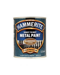 Hammerite Direct to Rust Hammered Finish Metal Paint Copper 750ml - HMMHFCO750
