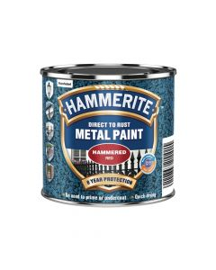 Hammerite Direct to Rust Hammered Finish Paint Red 250ml - HMMHFR250