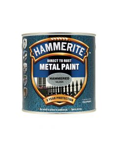 Hammerite Direct to Rust Hammered Finish Metal Paint Silver 2.5 Litre - HMMHFSG25L