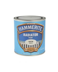 Hammerite Radiator Paint Satin White 500ml - HMMRES500