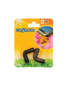 Hozelock Elbow Connector 90 Degree 13mm (2 Pack) - HOZ2766