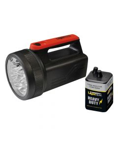 Lighthouse 8 LED Spotlight with 6V Battery 996 - L/HT996LED