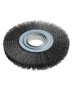 Lessmann Wheel Brush D200mm x W24-27 x 50 Bore Set 3 Steel Wire 0.30 - LES365172