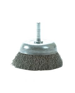 Lessmann DIY Cup Brush with Shank 75mm x 0.35 Steel Wire - LES43013307
