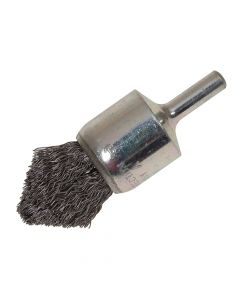 Lessmann Pointed End Brush with Shank 23/68 x 25mm 0.30 Steel Wire - LES453162